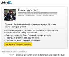 elenadomenech: Mi perfil profesional ¿conectas conmigo en LinkedIn? http://lnkd.in/d3rD4xs