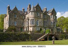 Scotland Argyll&Bute Mull Torosay castle - Stock Image