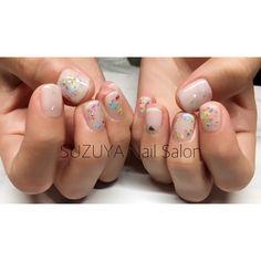 いいね!1件、コメント1件 ― Ryoko ☻ SUZUYA nail salonさん(@ryoko_suzuya)のInstagramアカウント: 「お持ち込み画像をアレンジさせていただきました ふんわりボタニカルなブライダルネイル❤️✨ #nail #nails #nailart #gelnail #gelnails…」