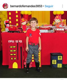 Man Birthday, Birthday Party Themes, Diy Fireman Costumes, Arcade Games, Firefighter, Gabriel, Firefighter Birthday, Neon Party, 4 Years