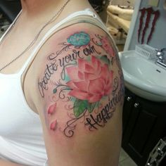 New tattoo. Flowers and happiness