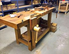 Our March 2014Workbench of the Month comes from Mark Harrell who is the owner ofBad Axe ToolWorks in La Crosse, Wisconsin.Mark had us craft a tapped leg& wooden vise screw combination for ...