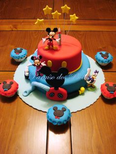 bolo casa do Mickey mouse Mickey mouse cake