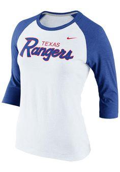 Texas Rangers Women's Nike Shirt http://www.rallyhouse.com/mlb/al/texas-rangers/a/womens?utm_source=pinterest&utm_medium=social&utm_campaign=Pinterest-TexasRangers