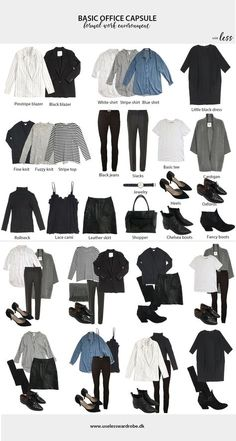 Ideas Style Guides Fashion Capsule Wardrobe For 2019 Capsule Wardrobe Work, Capsule Outfits, Fashion Capsule, Mode Outfits, Fall Outfits, Fashion Outfits, Office Wardrobe, Wardrobe Ideas, Capsule Wardrobe How To Build A