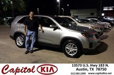 #HappyAnniversary to Luis Bella on your 2014 #Kia #Sorento from Andrew Meyer at Capitol Kia!