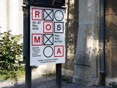 corporate identity the art fair 'roma contemporary' in rome, italy. by kasper-florio - designboom | architecture & design magazine