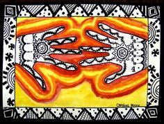 third grade art lessons | Art Lessons 3rd grade / India Line Designs