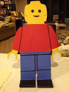 Larger than life Lego paper dolls (standing)
