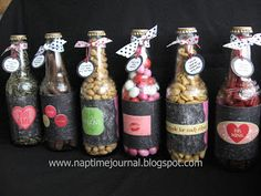Nap Time Journal: Repurpose Cream Soda Bottles into a fun Valentines gift