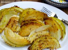 This Dijon Roasted Cabbage is Only 71 calories per serving and rich with vitamins.