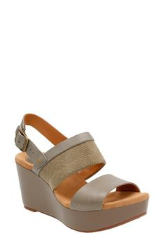 Clarks® 'Caslynn Kat' Wedge Sandal (Women)