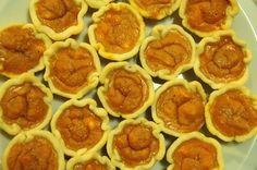 Mini Pumpkin Pies - total time 50 minutes - Alley's Recipe Book