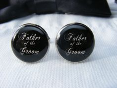 Father of the Groom Cufflinks  Father of the by UpscaleTrendz, $39.00