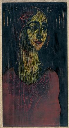 Edvard Munch - Birgitte III, 1930, Woodcut with gouges and fretsaw