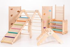 RAMPS for HappyMoon climbers, climbing boards for modifable pickler triangle, slide, ramp, board. Montessori Playroom, Toddler Playroom, Indoor Toddler Gym, Toddler Jungle Gym, Jüngstes Kind, Baby Kind, Kids Play Area, Kids Room, Indoor Playground