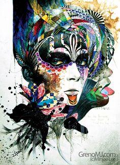 Tribal Art And Illustration, Creative Illustration, Graphic Illustrations, Graffiti, Art Watercolor, Ouvrages D'art, Art Clipart, Art Graphique, Art Design