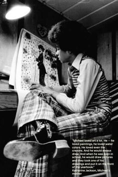 ♥ Michael Jackson ♥ - even as a kid he loved to draw.
