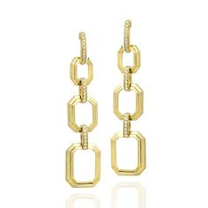 Ivanka Trump earrings in 18k yellow gold with diamonds