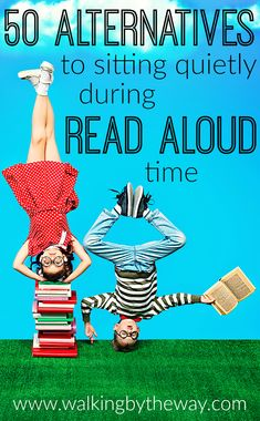 Read aloud time is vital but can be a chore for children who love to move. Here are 50 activity ideas for crafting, building, eating, creating, and moving--keeping your child engaged while listening to your read aloud. Reading Resources, Reading Activities, Teaching Reading, Reading Lists, Activities For Kids, Teaching Ideas, Educational Activities, Learning, How To Read Faster