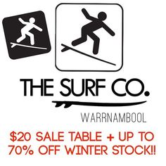 DANGER! SURF SALE AHEAD. Get in quick for the last on winter stock clearance. $20 tables or up to 70% OFF - we need to clear the floor so it's all going cheap. #THESURFCO #sale #clearance #winterstock #shop3280 #fashion3280 #warrnambool #fashion by thesurfco