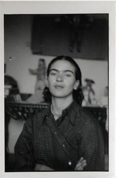 Portrait of Frida Kahlo found in Isamu Noguchi's archives, ca.1930s.