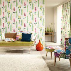 Tapete Floral Bazaar von Sanderson - Brights/ Multi