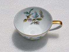 Noritake Oakwood China Flat Bottom Cup Gold by BonAppetitAntique
