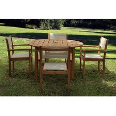 Amazonia Torino 5-piece Outdoor Dining Set