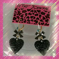 Nwt Authentic Betsy J. Earrings Adorable never worn received 2 pairs as a gift. I don't wear dangling earrings. Too bad for me good for you!   Bundles welcome great discounts  No rude comments or you will be blocked  Reasonable offers only Betsey Johnson Jewelry Earrings