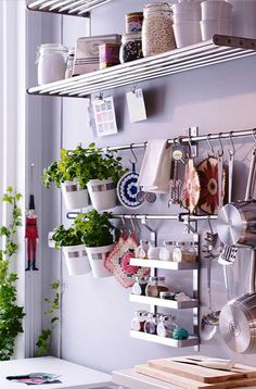 Nice herb baskets. I can see these hanging in my kitchen