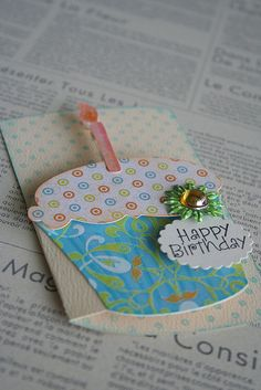 Cupcake Cricut Birthday Cards, Homemade Birthday Cards, Bday Cards, Cricut Cards, Happy Birthday Cards, Homemade Cards, Shaped Cards, Scrapbook Cards, Scrapbooking