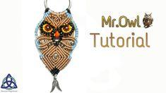Macrame Owl Tutorial:  Mr. Hedwing Owl ; How to Make Macrame Owl - YouTube