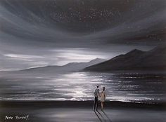 Pete Rumney Art Original Canvas Painting Counting Stars Black and White Signed Hand Painting Art, Art Paintings, Counting Stars, Ebay Auction, Art For Sale, Buy Art, Waves, Black And White, The Originals