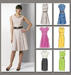 Misses'/Misses' Petite  Dress--Vogue #V8667