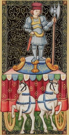 The Chariot - Golden Tarot of the Renaissance