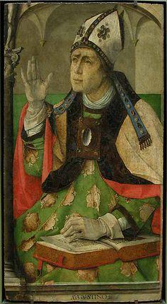Juste de GAND      Pedro BERRUGUETE      Saint Augustin   H. : 1,18 m. ; L. : 0,62 m.