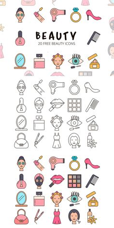 Before you Beauty Vector Free Icon Set Icons Web, Vector Icons, Vector Art, Icon Design, Web Design, Flat Design, Vector Design, Cute Vector, Cute Love Images