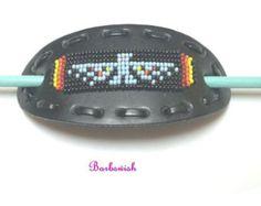 native american beadwork on leather - Google Search