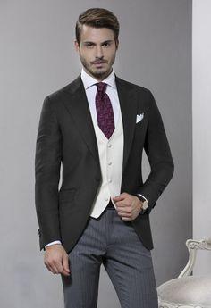 Sartoria Rossi - Jacket Half Morning Suit - Gray