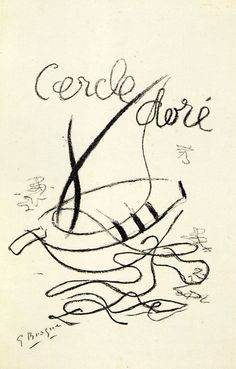 Cercle doré. Cover. Artist: Georges Braque. Author: Pierre Reverdy. Publisher: Aimé Maeght, Paris, 1953. Size: 50×33 cm