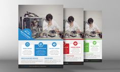 Computer Repair Flyer Template by Business Templates on Creative Market