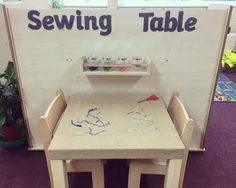 Another stolen idea from 🙈 we used an IKEA LACK table, cut a hole in the middle and stapled hessian over the top. The rack and jars are also from IKEA and altogether the whole thing only cost 😄 Preschool Fine Motor Skills, Preschool Science, Learning Centers, Early Learning, Ikea Lack Table, Reception Class, Infant Activities, Motor Activities, New Classroom