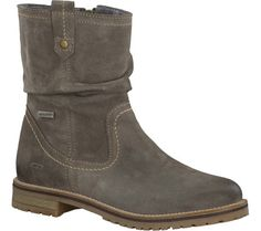 Women's Tamaris Alice Waterproof Boot - Taupe Velour Leather with FREE Shipping…
