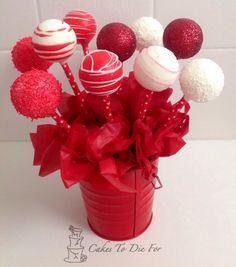 Valentines day cakepop bouquet |  Cakes To Die For