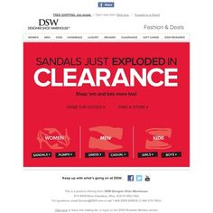 DSW - Hot sandals in clearance (and a whole lot more)!
