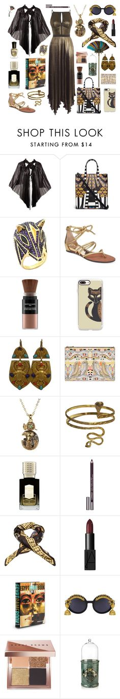 """Nefertiti's Shopping Day"" by inspiredsara ❤ liked on Polyvore featuring Karen Millen, Issey Miyake, Givenchy, King Ice, Vince Camuto, Karin Herzog, Casetify, Askew London, Urbiana and Ex Nihilo"