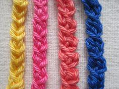 Mr. Micawber's Recipe for Happiness: Simple Crochet Braid Trim Tutorial - Teresa Restegui http://www.pinterest.com/teretegui/ ✔