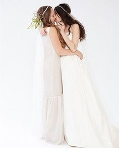 """The New York City boutique bridal shop that proudly declares """"Fuck Weddings"""" when describing its 2013 line of bridal gowns, released this image in their fall lookbook. The pro-gay marriage company website says, """"You guys did the hard part. You fell in love. Let us do the rest, and help you walk down the aisle in style."""""""