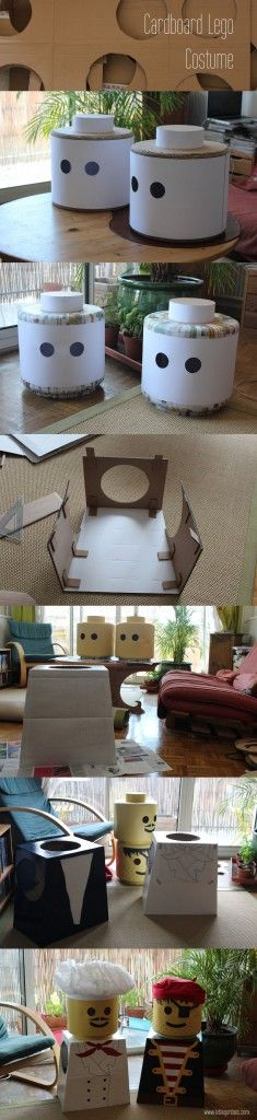 Cardboard Lego costume